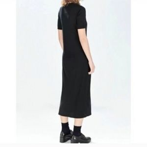 ZARA maxi long sleeve black dress